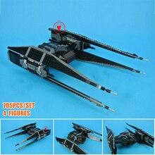 цена на New Starwars Kylo TIE Fighter X-wing Fighter Fit Star Wars 75179 Figures Model Building Block Bricks Diy Toy Gift Kid Boys