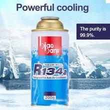 Filtro de ar condicionado para carro 200ml, agente de resfriamento para carro r134a, refrigerador favorável ao ambiente