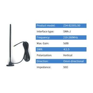 Image 2 - 230MHz Antenne met Magnetische Voet 230M Koperen Antenne SMA MALE Omni Antena Draadloze Module DTU Antenne TX230 TB 300