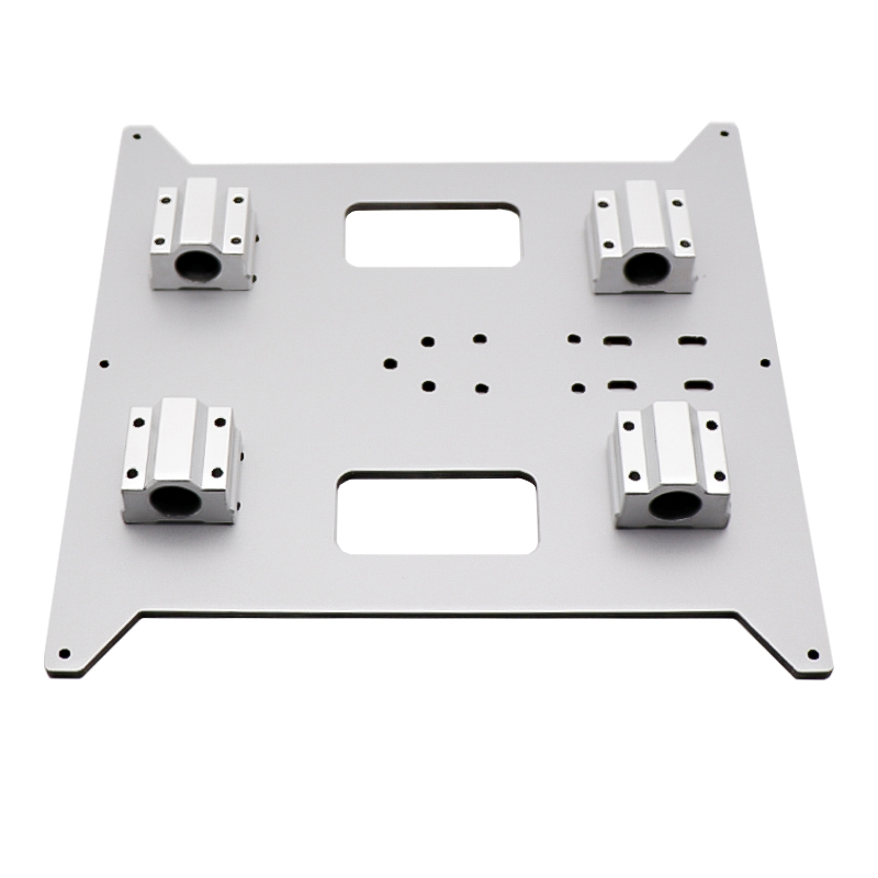 Aluminum 220*200*4MM Hotbed support platform base plate slide block Strengthen for ANYCUBIC mega i3 214*214 220*220 MK3 heatbed
