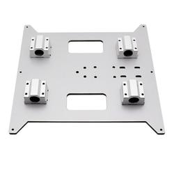 Aluminum 220*200*4MM Hotbed support platform base plate slide block Strengthen for ANYCUBIC mega i3 214*214 220*220 MK3 heatbed