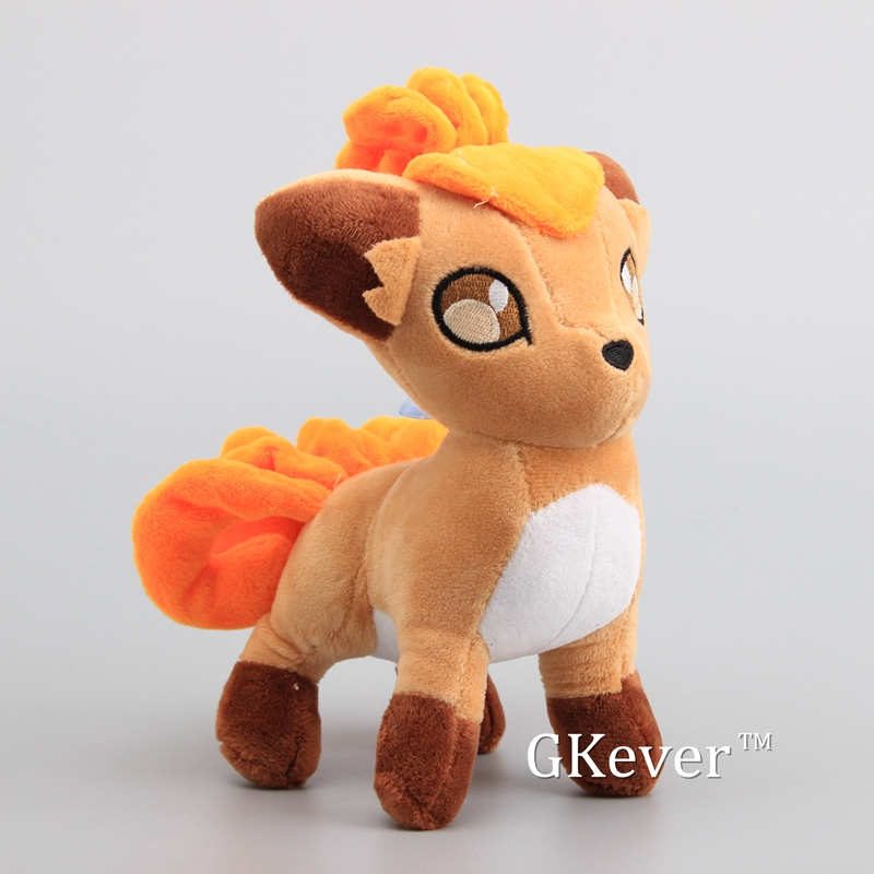 20cm Anime Vulpix Plush Toys Doll Fox Stuffed Animals Toys Peluche Pikachu Eevee Squirtle Charmander Series Doll Women Kids Gift