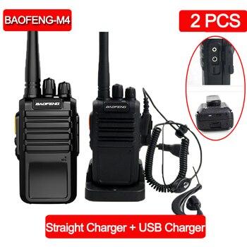 2 قطعة Baofeng M4 جهاز لاسلكي قوي محطة UHF 400-470MHz 16CH CB راديو تالكي وكي المحمولة جهاز الإرسال والاستقبال لاسلكي