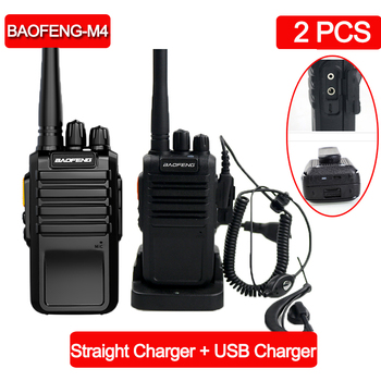 2 uds $TERM impacto Baofeng M4 poderoso Walkie Talkie Radio estación UHF 400-470MHz 16CH CB Radio talki walki portátil transceptor walkie-talkie