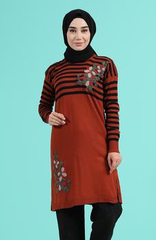 Minahill płytka sweter moda muzułmańska islamska odzież skromne topy arabska odzież długa tunika Abaya Dubai 1466-03 tanie i dobre opinie TR (pochodzenie) tops Aplikacje Bluzki i koszule Octan Dla dorosłych