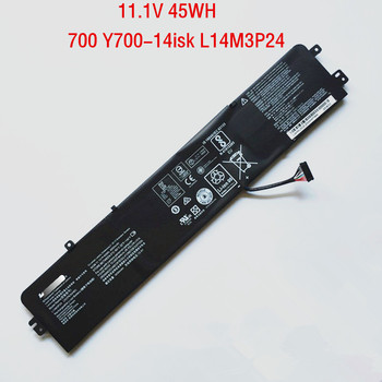 11.1V 45WH Genuine L14M3P24 L14S3P24 Battery For Lenovo Ideapad 700 Y700-14isk R720 Y520