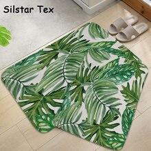 Современный дизайнерский коврик silstar tex с листьями на дверь
