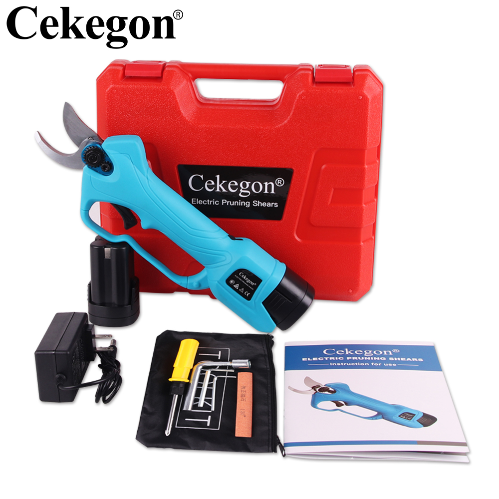 Cekegon Cordless Pruner Lithium-ion Pruning Shear Efficient Fruit Tree Bonsai Pruning Electric Tree Branches Cutter Landscaping