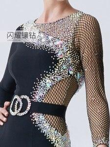 Image 4 - Ropa para danza moderna, estándar nacional, péndulo grande, ropa de práctica, Waltz M19136 de baile de salón