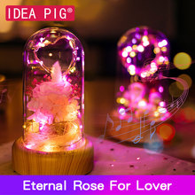 Real Eternal Forever Rose Non- Artificial Flower Festive Preserved Non-Fake Gift for Lover Home Decoration Accessories
