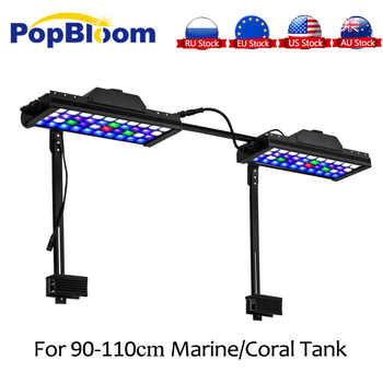 PopBloom Smart Led Lights marine aquarium lamp led reef tank Lighting Aquarium Programmable Controller with Arm kit MJ3BP2 - DISCOUNT ITEM  21% OFF All Category