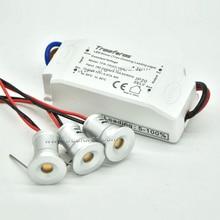 1 ワット天井スポットライト + トライアック調光可能な電源 led 15 ミリメートルダウンライト 12 v キャビネット照明 30/120 diy 装飾ランプキッチン