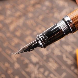 Image 4 - Duke Classic Confuciusไม้ไผ่ธรรมชาติโลหะนูนรูปแบบBent Nib FountainปากกาIridium 1.2 มม.สำหรับสำนักงาน/ของขวัญ