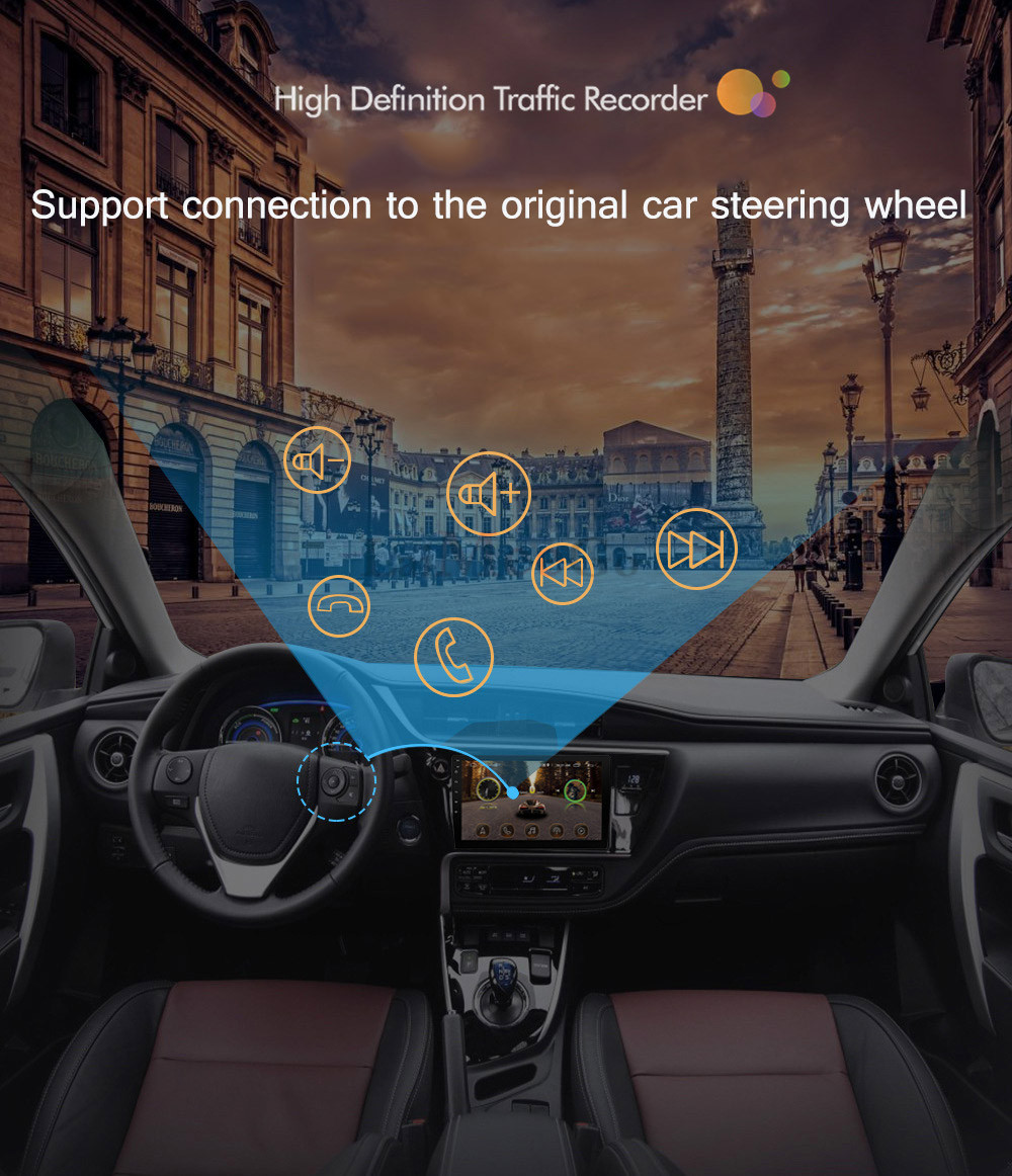 2din Car radio 9 10.1inch Android system Auto stereo 2.5D Capacitive Screen Bluetooth WIFI GPS Quad Core For Universal Car  (19)