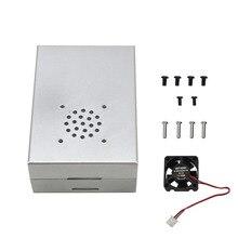 Für Raspberry Pi 4 Lüfter Gehäuse Box Shell Aluminium Legierung Einfach Installieren Leichte Metall Lüfter Kühlkörper