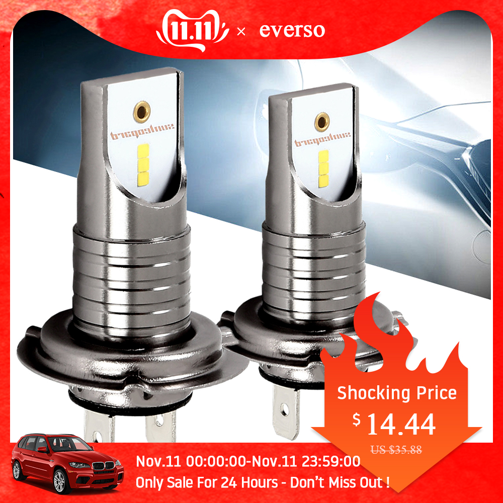 2PCS LED Xenon H7 Car Headlights Bulb 12V 55W 6000K 12000LM Car Lights High Power For Led Xenon Auto Headlamp Kit Car Styling
