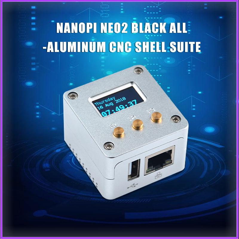 FriendlyARM NanoPi NEO2 Metal Complete Kit Aluminum Housing Oled Programmable In Python