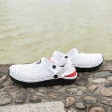 Size 36-45 Sandals for Women 2021 Summer Fashion Garden Clog Aqua Shoes Men Breathable Beach Sandals Hole Shoes