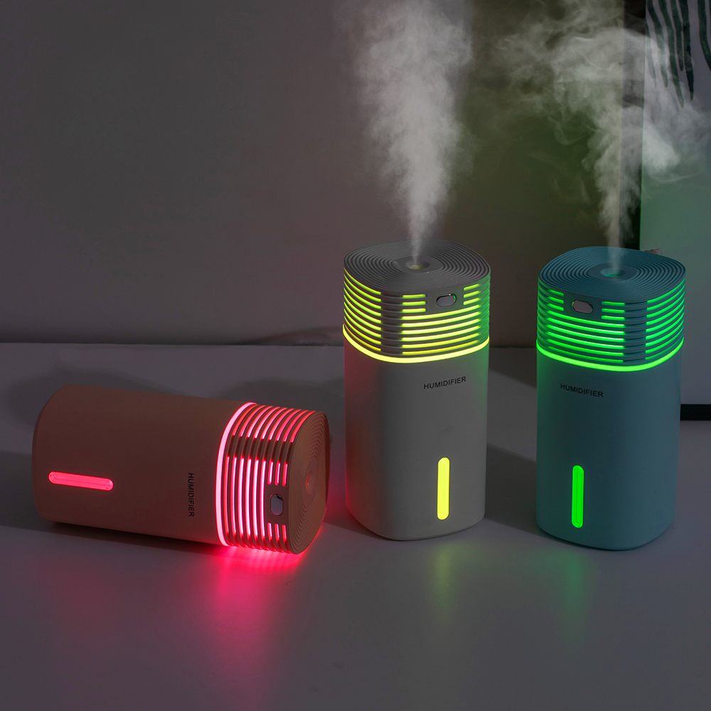 Portable Air Humidifier 255ML Ultrasonic Hallow Color Lamp Cube Humidificador Office Bedroom Car USB Aroma Diffuser Mist Maker