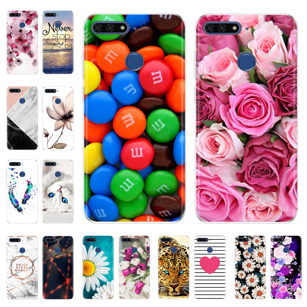 Silicone phone Case For Huawei <font><b>Honor</b></font> <font><b>7A</b></font> Pro Case 5.7