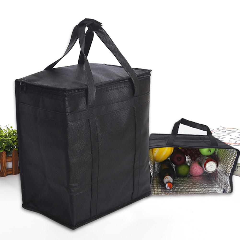 Portable Thermal Insulated Lunch Pouch Folding Picnic Bag Tote Cooler Ice Packed