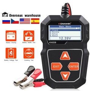 Image 1 - Konnwei KW208バッテリーテスター車デジタル12v 100 2000CCAクランキング充電システムテストツール自動車バッテリー容量テスター
