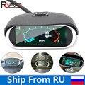 Hohe Qualität Universal Auto Auto LCD Tachometer Digital Engine Tach Gauge Auto Motorrad rpm meter 12/24v Schiff von Russland-in Tachometer aus Kraftfahrzeuge und Motorräder bei