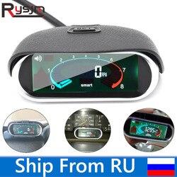 Wysokiej jakości uniwersalny do samochodów LCD obrotomierz cyfrowy silnik tachowy Gauge samochodów motocykl licznik rpm 12/24v statek z rosji