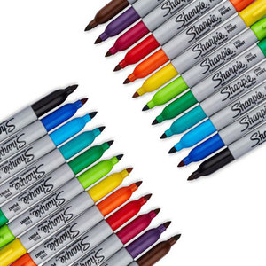 Image 4 - Sharpie Marker Pen Set 12/24 Colored Art Marker Eco friendly Fine Point Permanent Oil Marker Pens Colored Office Stationery