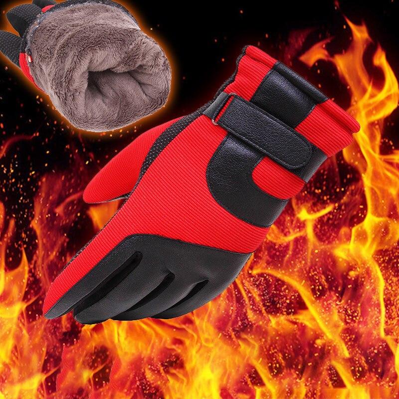Ветрозащитные перчатки с сенсорным экраном для холодной погоды, спортивные теплые перчатки для велоспорта