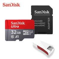 SanDisk-Tarjeta de memoria para ordenadores, memoria micro SD clase UHS 10-3 A1 con capacidad de almacenamiento de 400GB 256GB 200GB 128GB 64GB 32GB 16 GB, transmisión de 98 MB/S