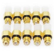 10 шт. комплект для ремонта пневматической подвески воздушный клапан M8x1 для Benz W251 W164 W212 W211 W220 W221 воздушный соединитель трубки латунные фитинги