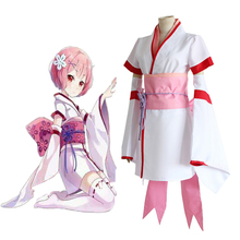 Anime Re ZERO Starting Life in Another World Cosplay Costumes Ram Rem Kimono Game Zero Kara Hajimeru Isekai Seikatsu