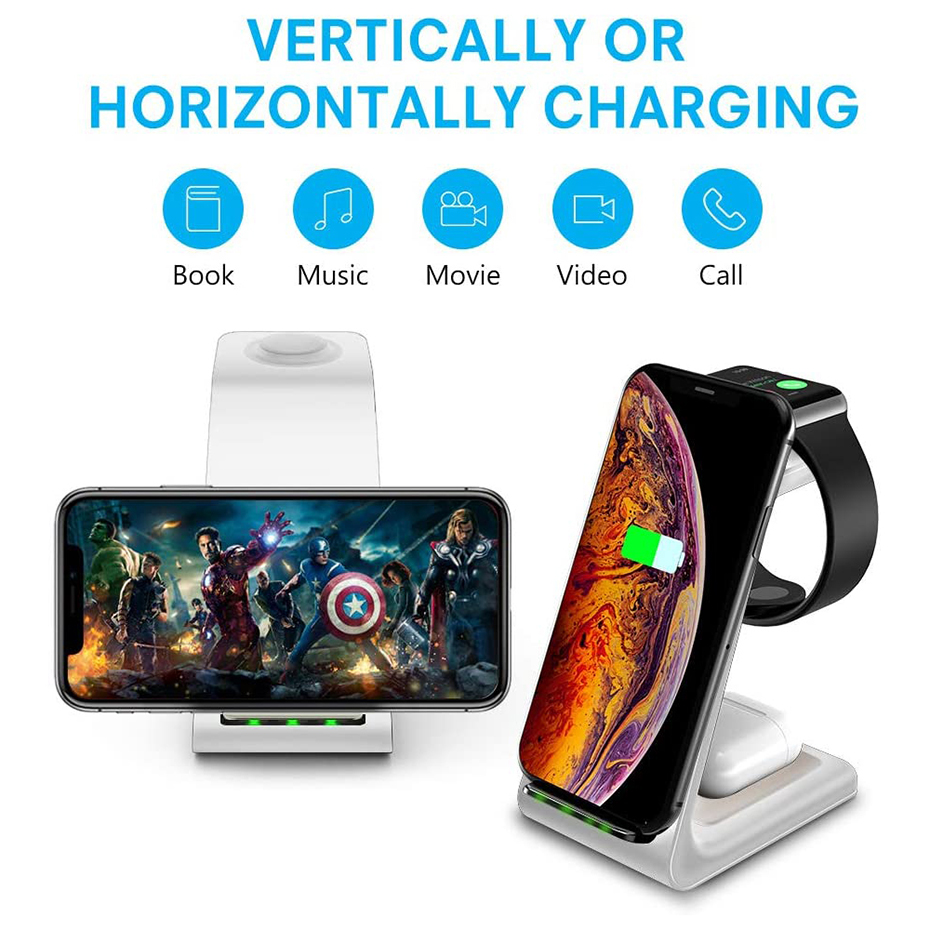 Bonola White 3 in 1 Fast Wireless Charging Stand  (5)