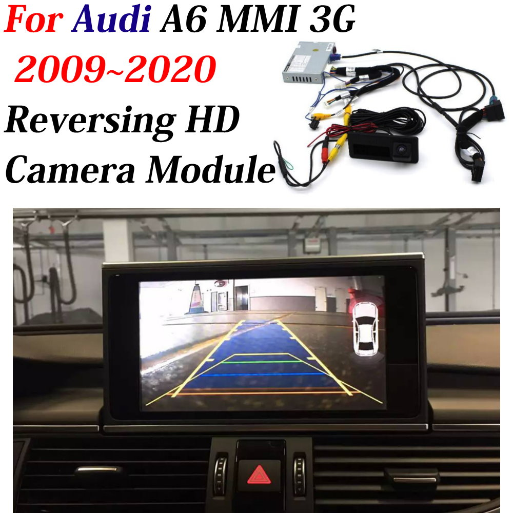 Car Revering Image Upgrade Camera Decoder For Audi A6 MMI 3G 2009~2020 Original 6.5 Inch Display Upgrade Adapter Rear Front CAM