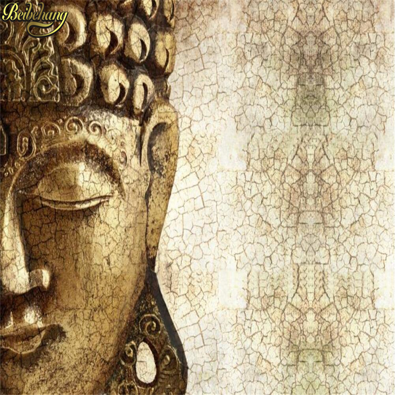 Beibehang Custom 3D Buddhist Hindu Buddha Wallpaper Bedroom Lounges Wall Paper Papel De Parede Wall Papers Home Decor