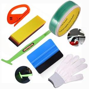 FOSHIO Vinyl Wrap Car Tools Kit 5M Knifeless Tape Design Line Carbon Fiber Protective Film Installing Squeegee Auto Accessories(China)