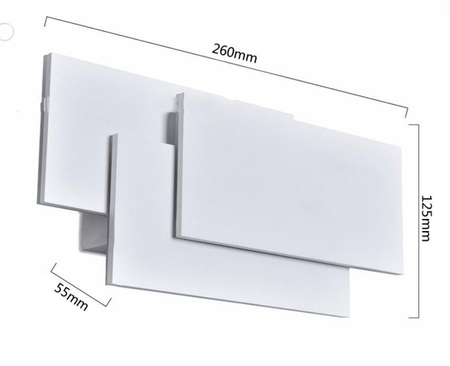 H39a39fbe4736421f85fa0ecb1c5c0845h - 12W LED Wall Sconces Lighting Interior Wall Lamp Contemporary Mounted Lamp With Aluminum Shell for Indoor Bedroom Hot Light