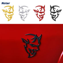 Nstar 1pc demonio emblema de aleación de coche guardabarros lateral tipo alerón insignia de decoración para Dodge Changer 2017 SRT Demon Auto parte accesorios 033(China)