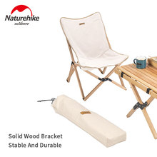 Naturehike Outdoor Folding Chair Solid Wood Camping Fishing Chair Portable Picnic Sketch Wooden Chair Beech Chair Camping Chair
