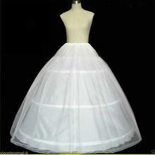White 3 Hoop 2 layer Wedding Bridal Petticoat Underskirt Crinoline Slip 2022