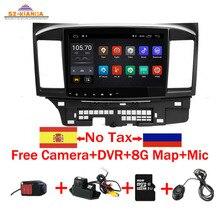 "цена на 10"" Android 9.0 Car Radio for Mitsubishi lancer 1024*600 Quad Core wifi Bluetooth video audio Multimedia 2 din car dvd player"