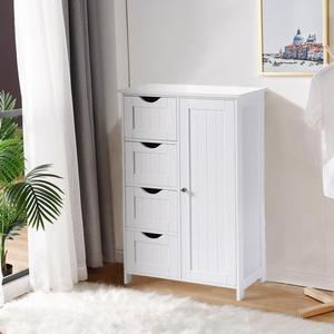 Белый МДФ простой 4 Слои одежды стеллаж для выставки товаров для дома шкаф для хранения одежды бытового обеспечивает экономию места • универсальные инструменты для походов и аксессуары для дома Мебель для дома HWC