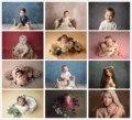 Фон для фотосъемки новорожденных розовая однотонная текстурная стена день рождения фото фон для детских портретов студийный фон реквизит
