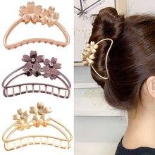 1 шт. металлические заколки для волос больших размеров в стиле ретро с цветочным узором; Заколки для волос для женщин девочек заколки для вол...