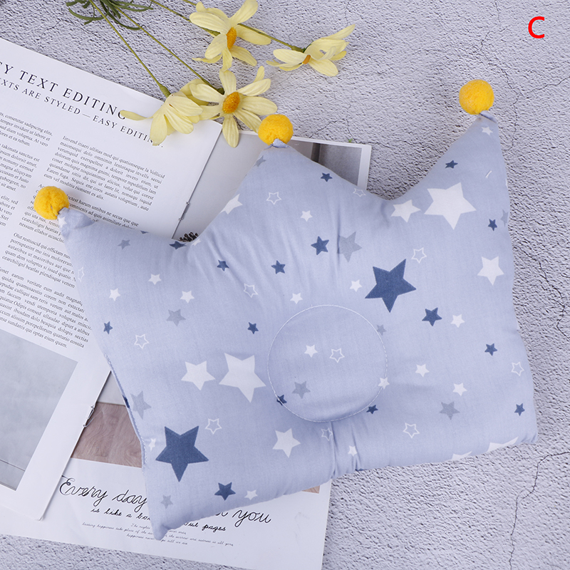 Baby Pillow Nursing Prevent Flat Head Crown For Bed Feeding Pillows Infants Head Protection Anti Roll Toddler Positioner Cushion