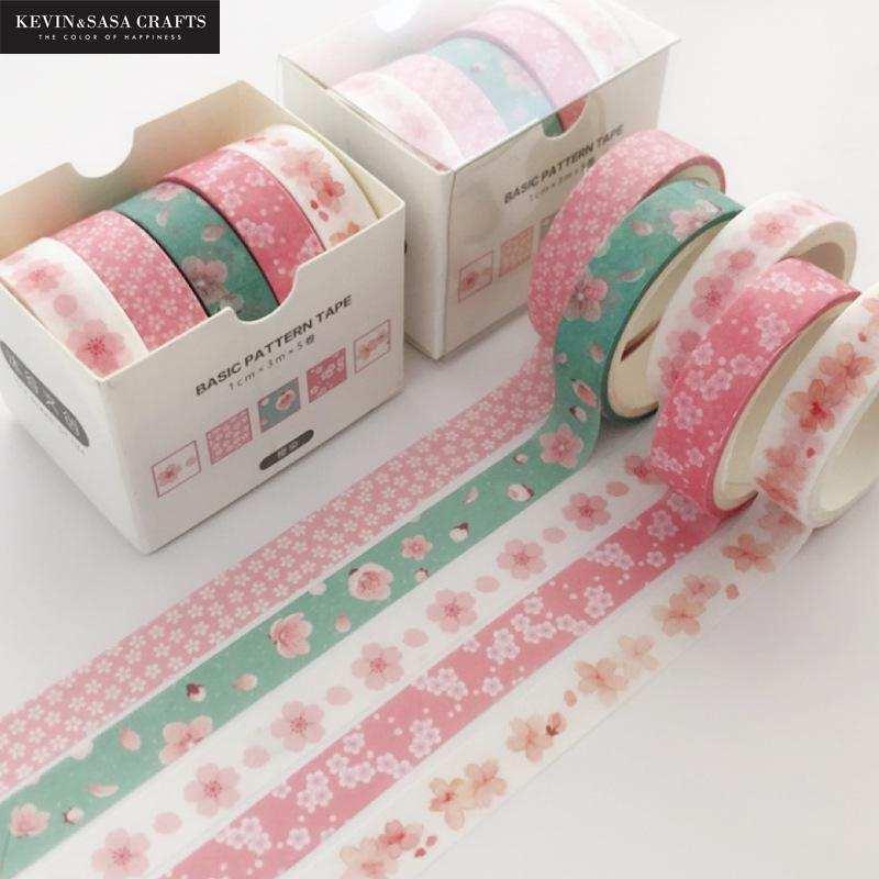 Washi-Tape-Set Stationery Crafts Gift Cute Stickers Presented Kevin Printing Sasa School-Suppliers
