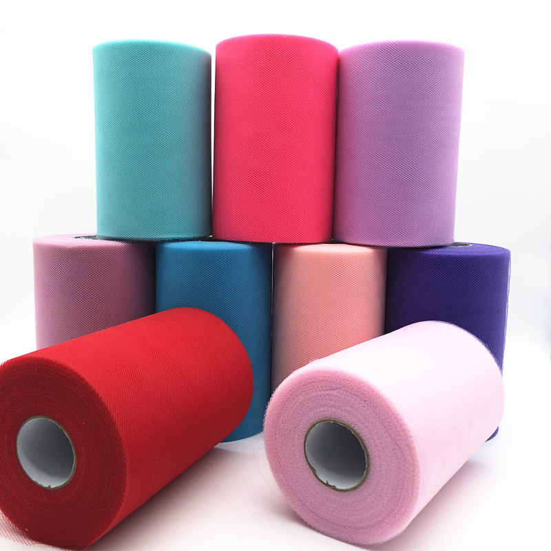 Tulle Roll Spool 100 Yards 15cm Organza Roll Tulle Fabric Tutu Skirt Girl Baby Shower Decor Wedding Decoration Party Supplies.