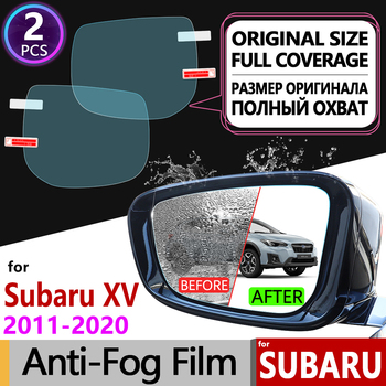 for Subaru XV 2011~2020 Full Cover Anti Fog Film Rearview Mirror Anti-Fog Accessories Crosstrek WRX STI 2012 2014 2016 2018 2019 image