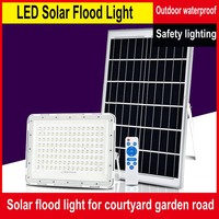 IP66 Outdoor Waterproof LED Solar Floodlight 100/200 / 300W Courtyard Garden Lighting Wall Lamp Spotlight With Remote Control